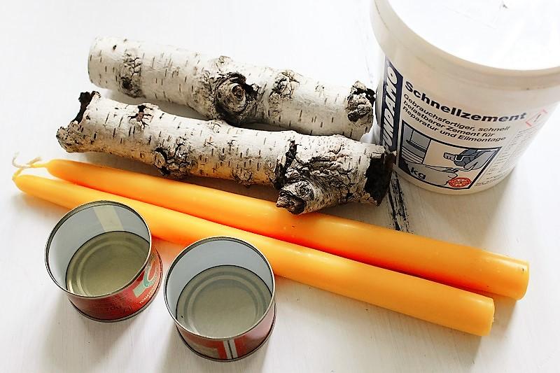Kerzenhalter aus birken sten annefaktur - Kerzenhalter selber machen ...