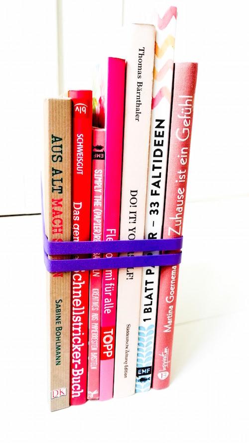 Fotounterlage für Blogger selbstgemacht Bastelblog Annefaktur Gummiband-Buchstützen Annefaktur.de