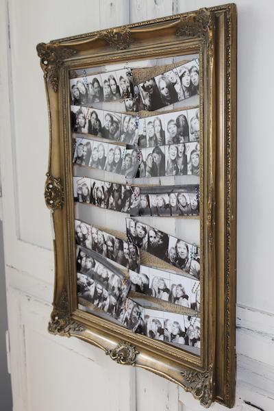 fotowand aus einem bilderrahmen und polaroids selber machen. Black Bedroom Furniture Sets. Home Design Ideas