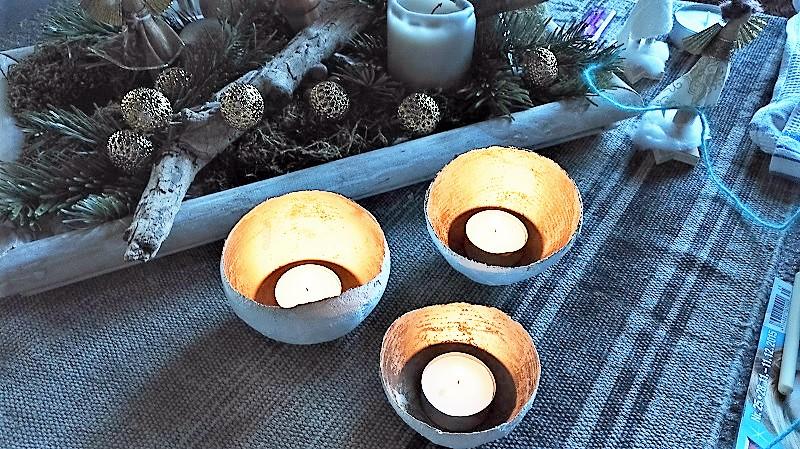 DIY Gips-Teelichthalter Weihnachten Annefaktur.de