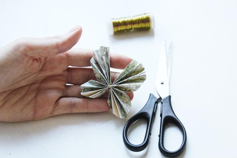 Schmetterlinge aus Papier Annefaktur.de Geschenkverzierung