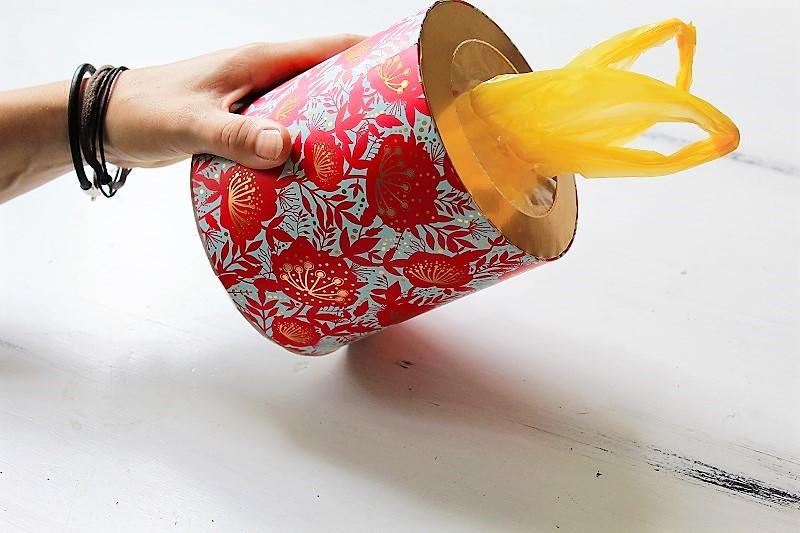 Lifehack Plastiktütenhalter Taschentuchbox Annefaktur.de