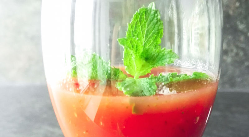 Wassermelonen Cocktail Smoothie Annefaktur.de