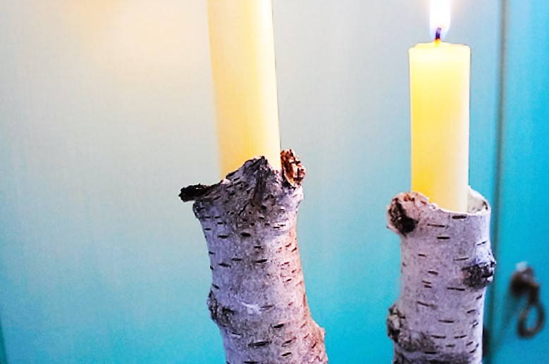 Kerzenhalter, Birkenäste, Wald, Naturmaterial, DIY-Blog, Bastelblog, Annefaktur, selbermachen, Bastelideen, Beton, Gips, Zement, Herbstdeko, Herbst, Weihnachten, Weihnachtsdeko