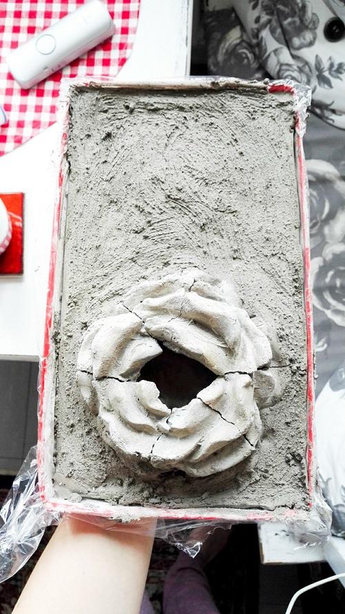 Beton-Blumentopf Annefaktur.de