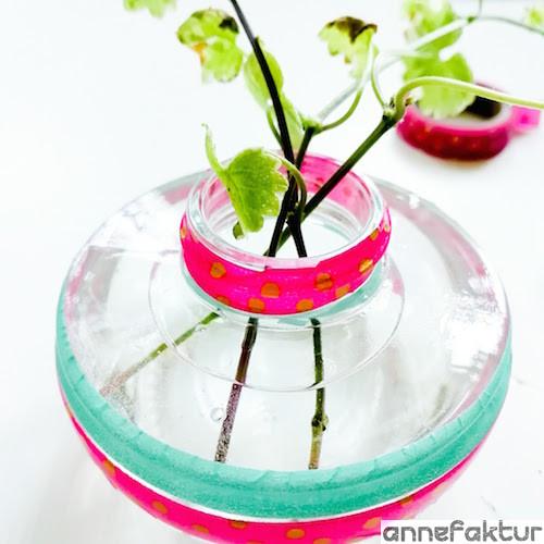 Upcycling, Recycling, Washitape, DIY, Blog, Bastelblog, Kreativblog, Berlin, Annefaktur, Blumenvase, Duftspender