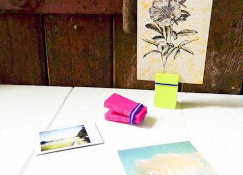 Fotohalter, Baumarkt, Montagekeil, Bastelblog, Berlin, Annefaktur, DIY, Do it Yourself, Schöner Wohnen, Sekundenkleber, Urlaubserinnerungen, Grußkarte, Bilder